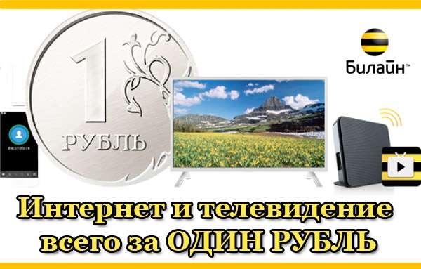Услуги от Билайн за один рубль