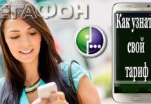 Девушка запрашивает свой тариф на мегафон