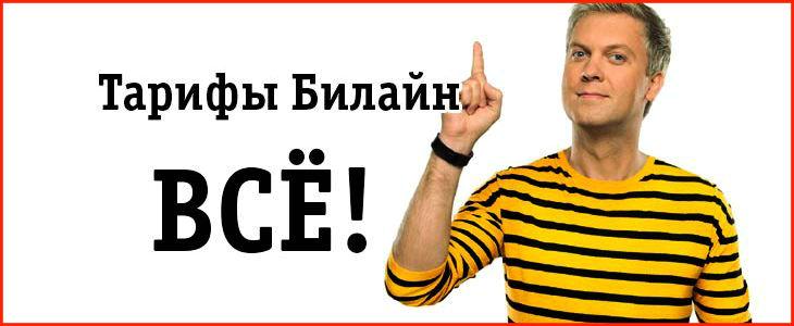 """Тарифы """"ВСЁ"""" от Билайн"""