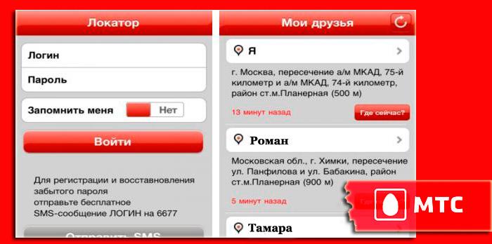 Интерфейс услуги Локатор