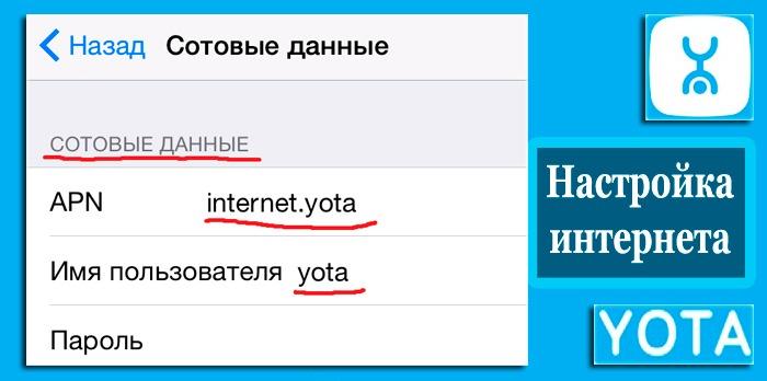 Настройка точки доступа Yota - подробная инструкция